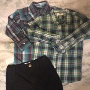 Other - Two boys dress shirts & boys casual pants. Size 5